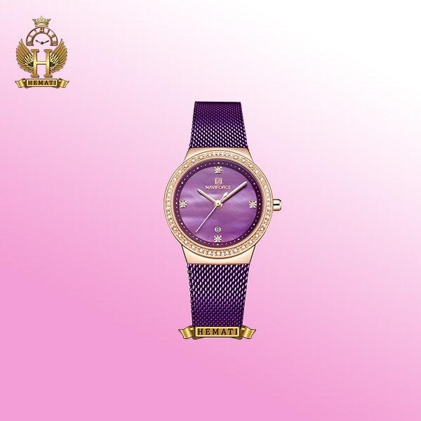 خرید ساعتمچی زنانه نیوی فورس بنفش NF5005L
