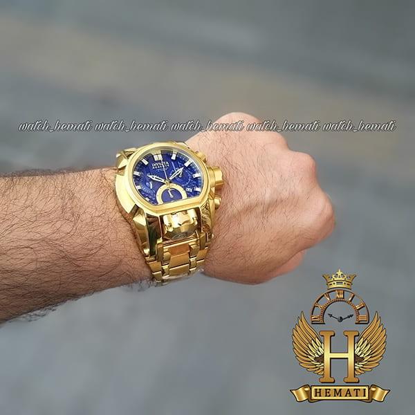 خرید ، قیمت ، مشخصات ساعت مچی مردانه اینویکتا بولت زئوس Invicta Bolt Zeus 20111 تمام طلایی صفحه سرمه ای