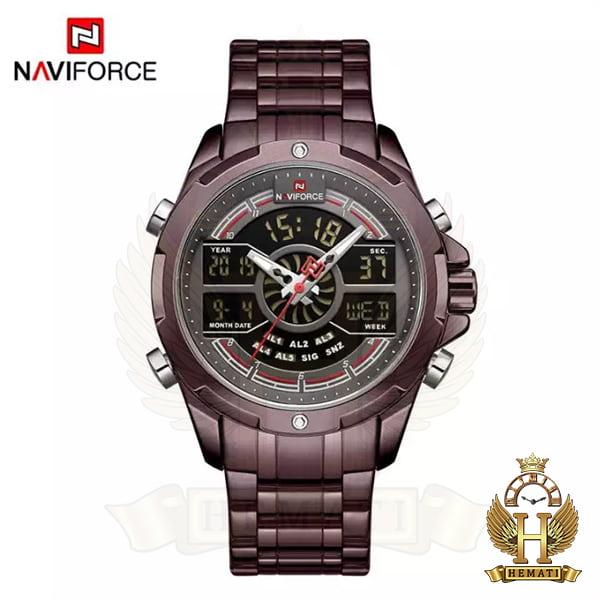 خرید اینترنتی ساعت مردانه نیوی فورس دو زمانه مدل naviforce nf9170m کافی