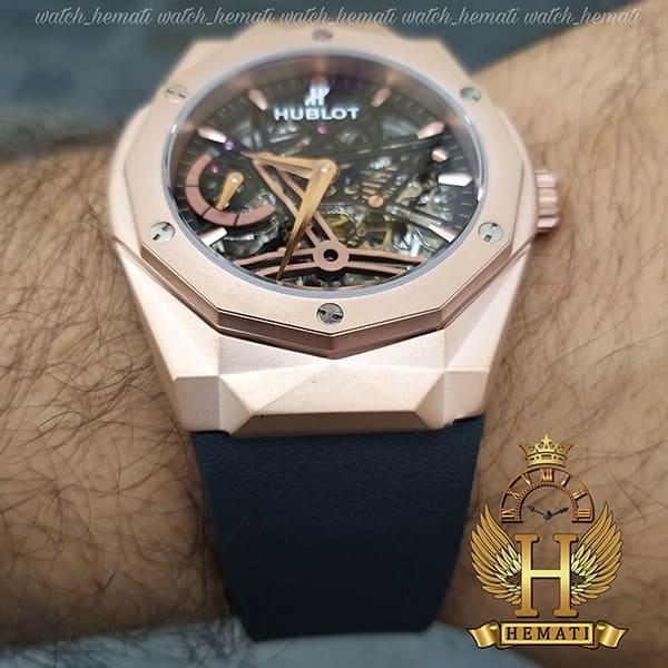 خرید ، قیمت ، مشخصات ساعت مردانه هابلوت موتور اتوماتیک Hublot BB1010 دورقاب تراش به رنگ رزگلد