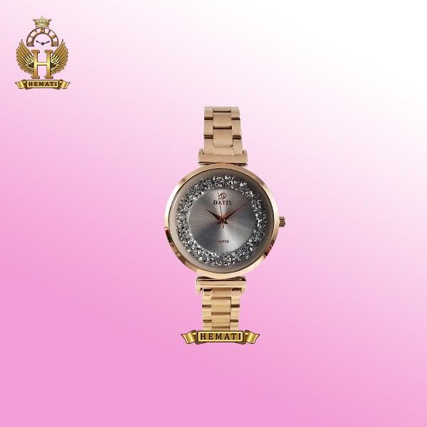 خرید آنلاین ساعت مچی زنانه داتیس مدل D8339CL رزگلد صفحه نقره ای
