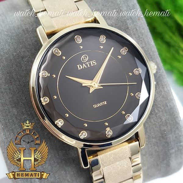 خرید اینترنتی ساعت زنانه داتیس طلایی مدل DATIS D8439L