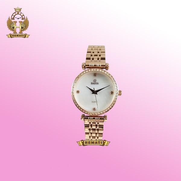 ساعت زنانه داتیس مدل Datis D8456L رزگلد صفحه سفید ساده اورجینال