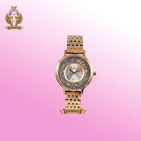 خرید آنلاین ساعت مچی زنانه داتیس D8461L رزگلد صفحه ساده نگین دار