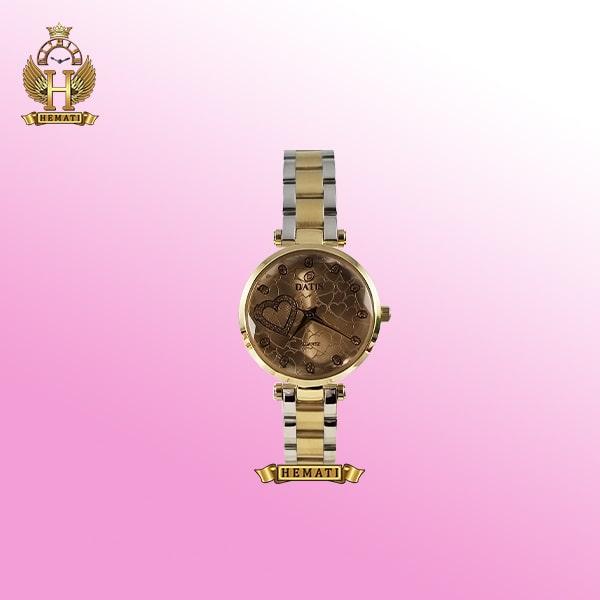 ساعت مچی زنانه داتیس مدل Datis D8463L رنگ بند نقره ای طلایی اورجینال