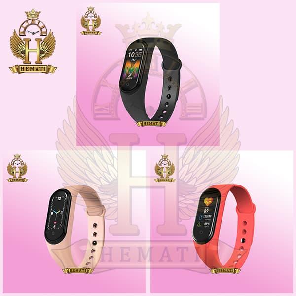 خرید دستبند سلامت SMART BERACELET M5 2020 در رنگبندی مشکی و صورتی و قرمز