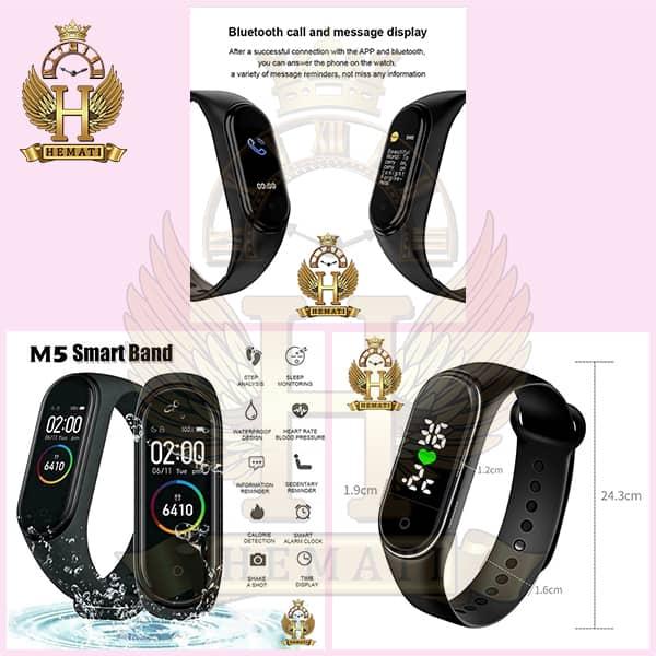 مشخصات دستبند سلامت SMART BERACELET M5 2020 تمام مشکی