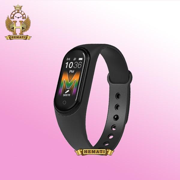 دستبند سلامت SMART BERACELET M5 2020 در رنگبندی مشکی و صورتی و قرمز