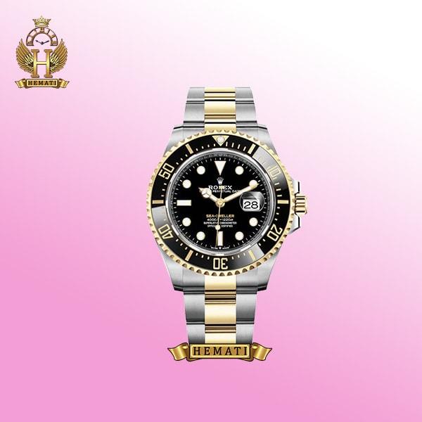 ساعت مردانه رولکس ساب مارینر Rolex submariner rosb101 نقره ای_رزگلد