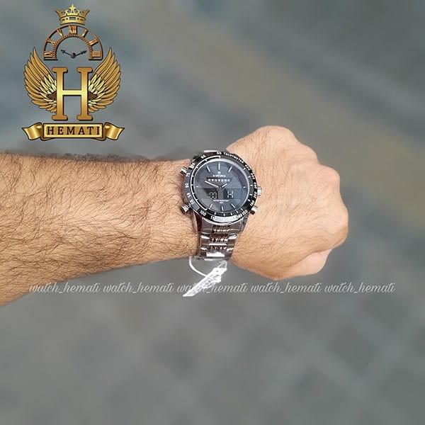 قیمت ساعت مردانه نیوی فورس مدل naviforce nf9024m نقره ای مشکی