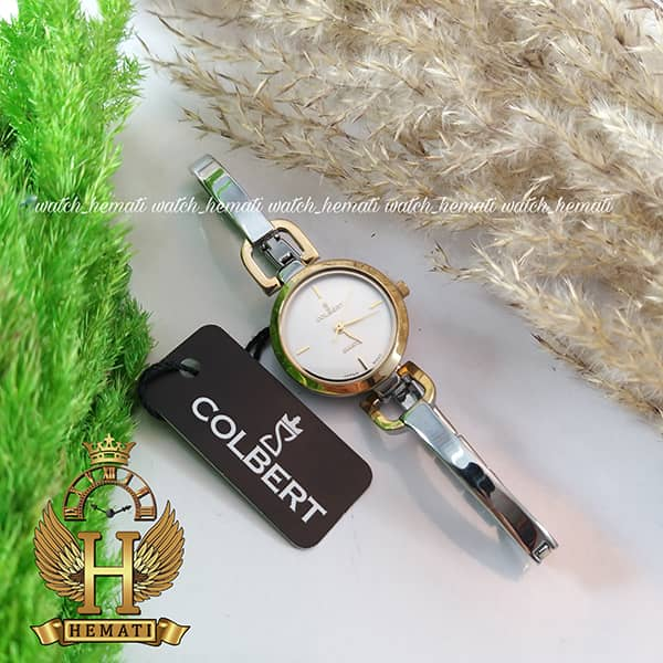خرید ، قیمت ، مشخصات ساعت مچی زنانه کلبرت مدل COLBERT 021L نقره ای طلایی