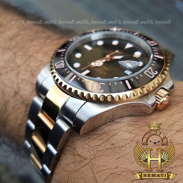 خرید اینترنتی ساعت مردانه رولکس ساب مارینر Rolex submariner rosb101 نقره ای_رزگلد