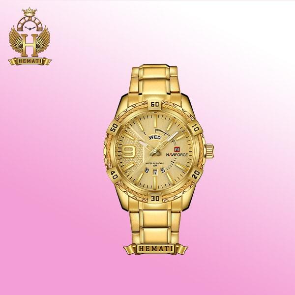ساعت مردانه ناوی فورس NF9117M Naviforce به رنگ طلایی gold