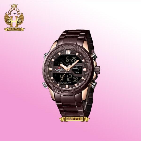 ساعت شیک مردانه ناوی فورس NF9138M بادمجانی استیل
