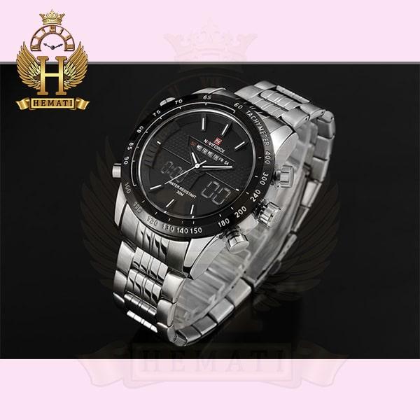 خرید اینترنتی ساعت مردانه نیوی فورس مدل naviforce nf9024m نقره ای مشکی