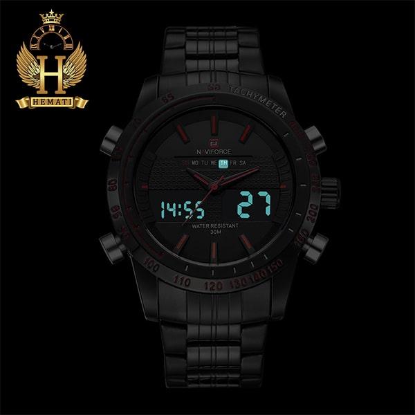 خرید ارزان ساعت مردانه نیوی فورس مدل naviforce nf9024m نقره ای مشکی