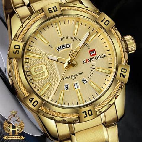خرید ساعت مردانه نیوی فورس مدل naviforce nf9117m طلایی