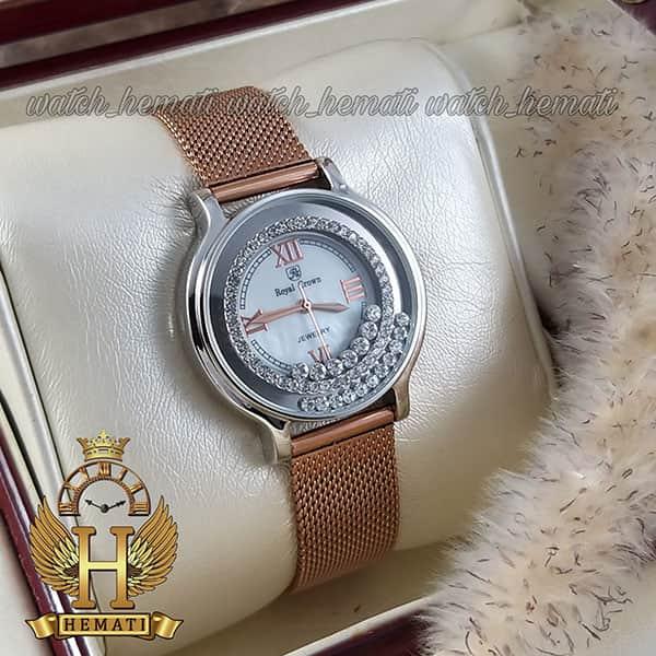 خرید ساعت زنانه رویال کرون 3638 دارای بند قابل تعویض