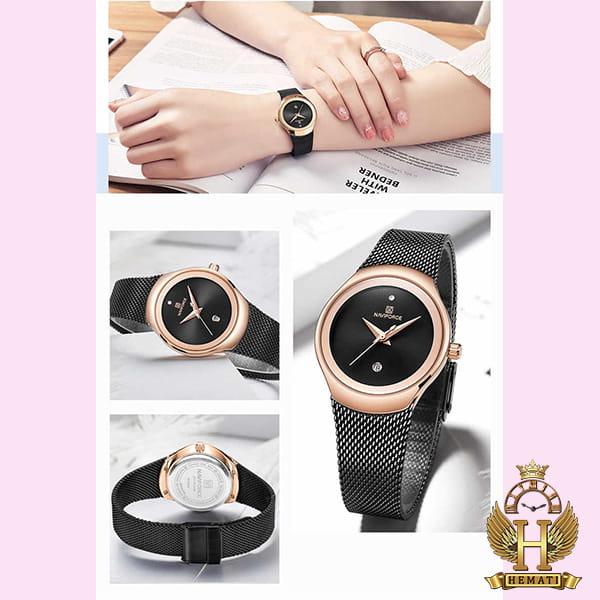 خرید ساعت زنانه نیوی فورس مدل nf5004l مشکی رزگلد