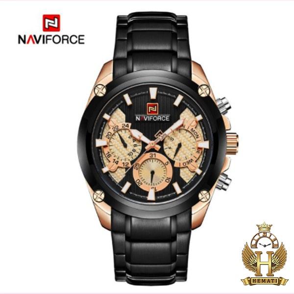 خرید اینترنتی ساعت مچی مردانه نیوی فورس مدل naviforce nf9113m مشکی رزگلد