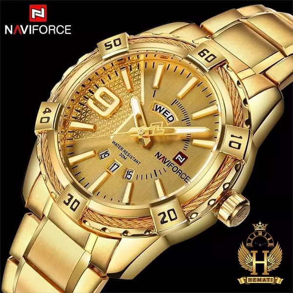 قیمت ساعت مردانه نیوی فورس مدل naviforce nf9117m طلایی