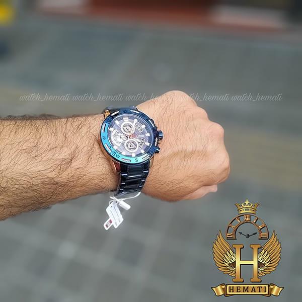 ساعت مردانه نیوی فورس مدل naviforce nf9165m سرمه ای رزگلد