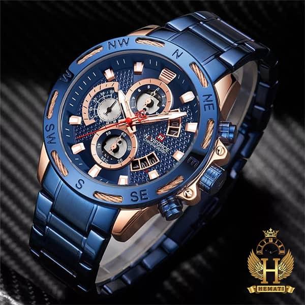 خرید ساعت مردانه نیوی فورس مدل naviforce nf9165m سرمه ای رزگلد