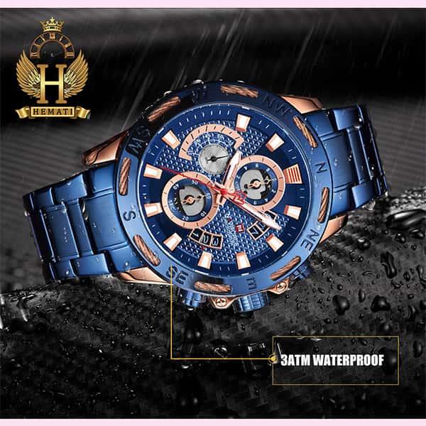 قیمت ساعت مچی مردانه نیوی فورس مدل naviforce nf9165m سرمه ای رزگلد