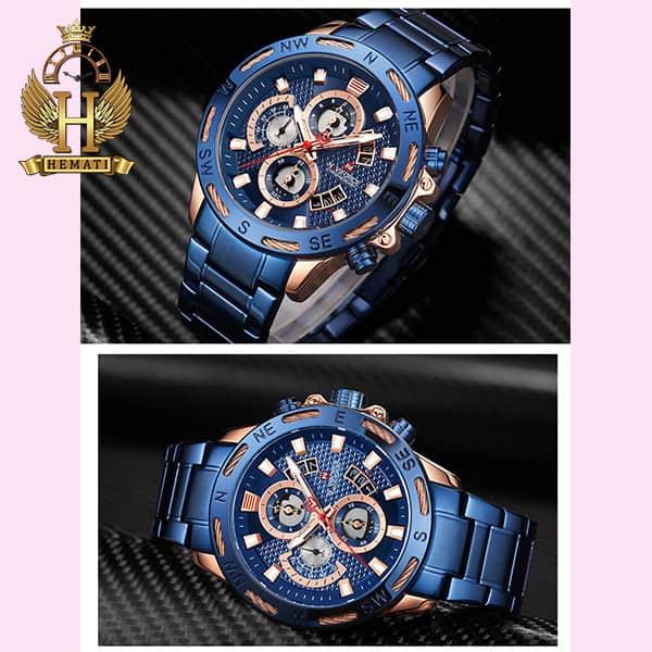 قیمت ساعت مردانه نیوی فورس مدل naviforce nf9165m سرمه ای رزگلد