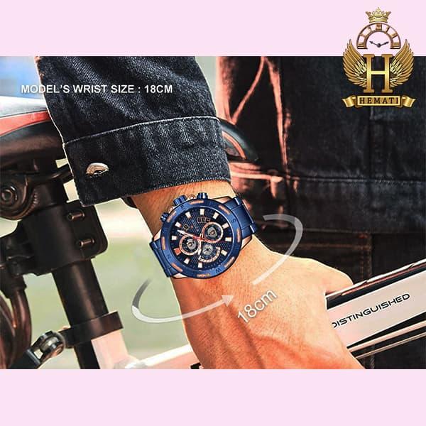 خرید انلاین ساعت مردانه نیوی فورس مدل naviforce nf9165m سرمه ای رزگلد