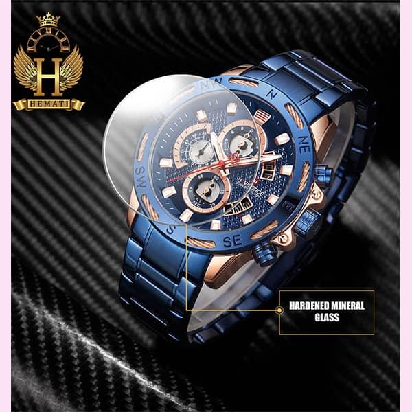 خرید اینترنتی ساعت مچی مردانه نیوی فورس مدل naviforce nf9165m سرمه ای رزگلد