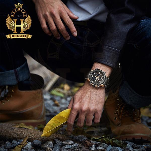 خرید انلاین ساعت مردانه دو زمانه نیوی فورس مدل naviforce nf9182m مشکی رزگلد