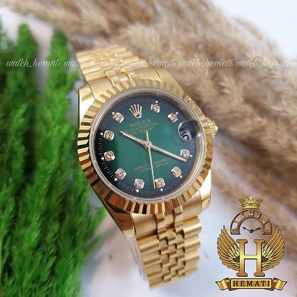 خرید ارزان ساعت زنانه رولکس دیت جاست Rolex Datejust RODJL102 طلایی صفحه سبز