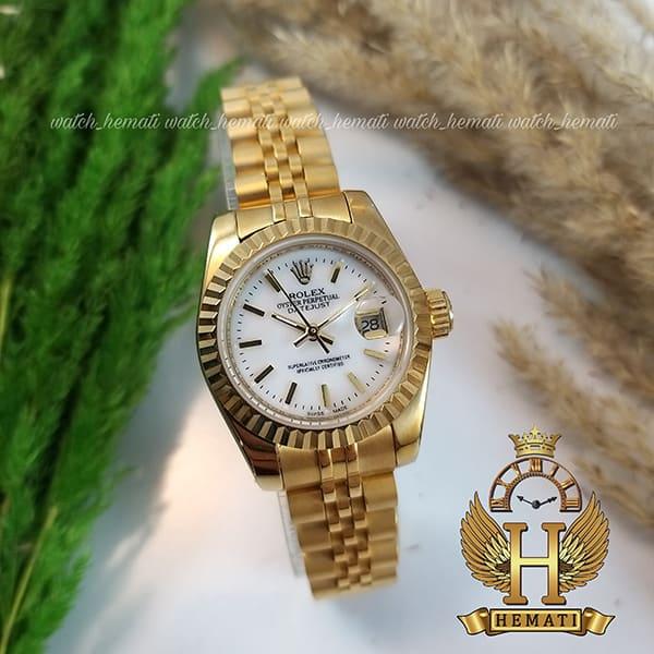 خرید اینترنتی ساعت زنانه رولکس دیت جاست Rolex Datejust RODJL26200 طلایی ایندکس خط ، قطر 26 میلیمتر