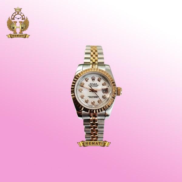 ساعت زنانه رولکس دیت جاست Rolex Datejust RODJL26101 نقره ای رزگلد ، قطر 26 میلیمتر