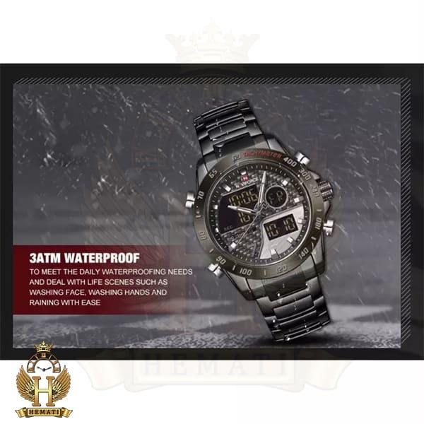 قیمت ساعت مردانه نیوی فورس دو زمانه مدل naviforce nf9171m تمام مشکی