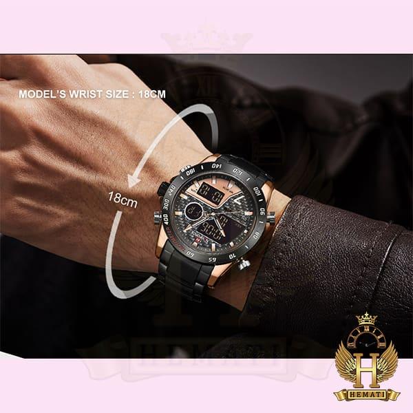 مشخصات ساعت مردانه نیوی فورس دو زمانه مدل naviforce nf9171m مشکی رزگلد