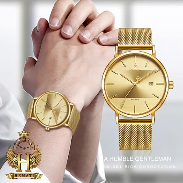 خرید ساعت ست مردانه و زنانه نیوی فورس Naviforce NF3008 تمام طلایی