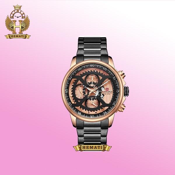 خرید ساعت مچی مردانه نیوی فورس NAVIFORCE NF9150M به رنگ مشکی و رزگلد