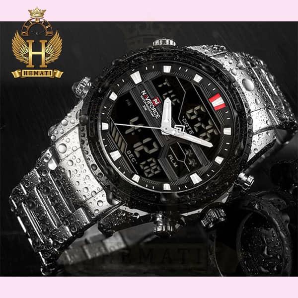 خرید ، قیمت ، مشخصات ساعت مردانه نیوی فورس مدل naviforce nf9138m نقره ای مشکی
