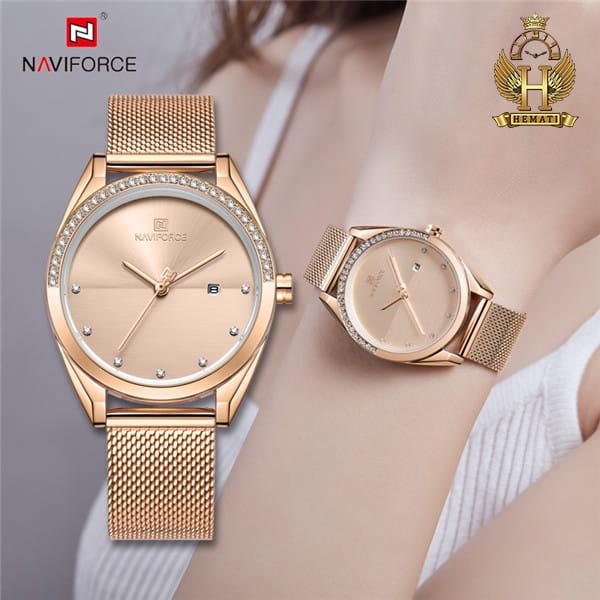 خرید ساعت زنانه نیوی فورس مدل naviforce nf5015l رزگلد