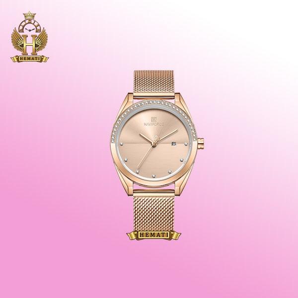 ساعت مچی زنانه نوی فورس مدل NF5015L به رنگ رزگلد