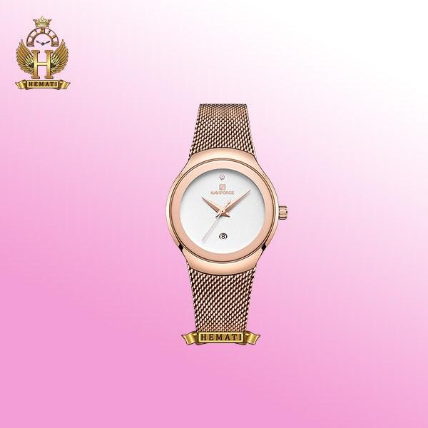 ساعت شیک زنانه نوی فورس مدل NF5004L رزگلد rose gold