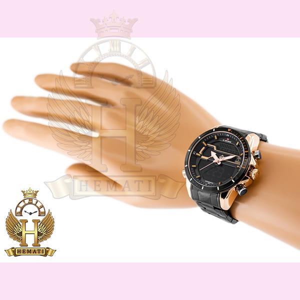 خرید ف مشخصات ، قیمت ساعت مردانه نیوی فورس مدل naviforce nf9133m مشکی رزگلد