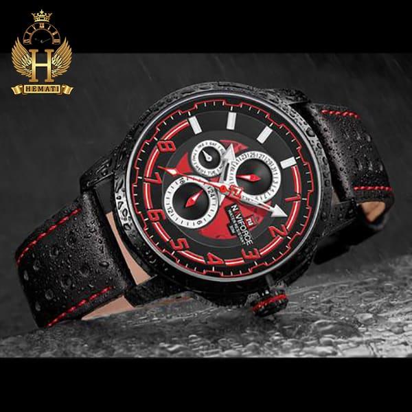 خرید اینترنتی ساعت مچی مردانه نیوی فورس مدل naviforce nf9142m مشکی قرمز
