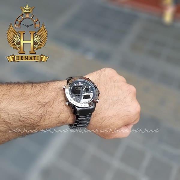 خرید ساعت مچی مردانه نیوی فورس دو زمانه مدل naviforce nf9171m تمام مشکی