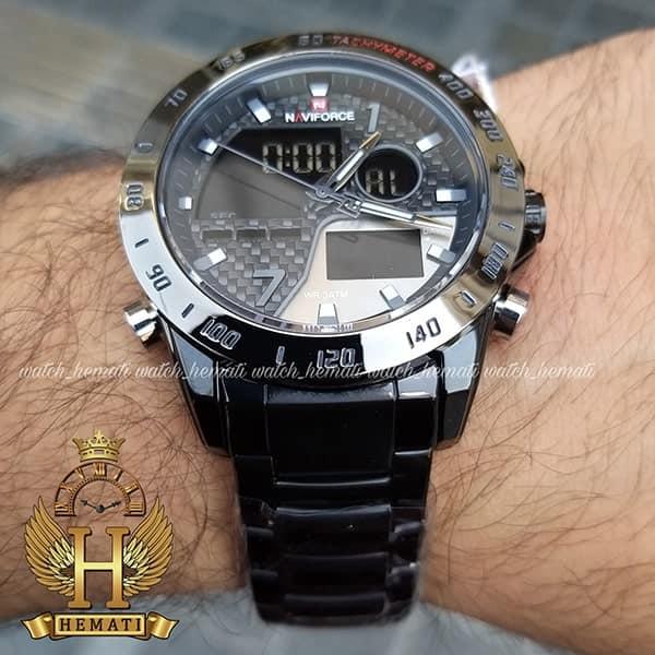 قیمت ساعت مچی مردانه نیوی فورس دو زمانه مدل naviforce nf9171m تمام مشکی