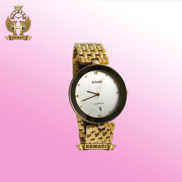 ساعت رادو مردانه فلورانس Rado Florence 1019M طلایی صفحه سفید ساده جنس استیل