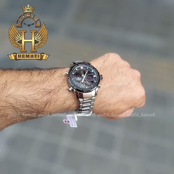 خرید اینترنتی ساعت مردانه نیوی فورس مدل naviforce nf9138m نقره ای مشکی
