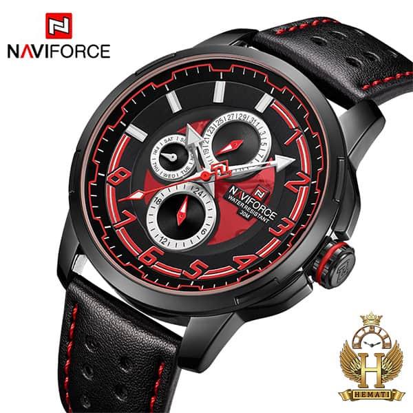 خرید ساعت مردانه نیوی فورس مدل naviforce nf9142m مشکی قرمز